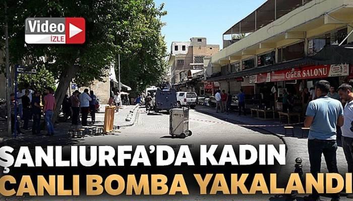 Şanlıurfa'da kadın canlı bomba yakalandı