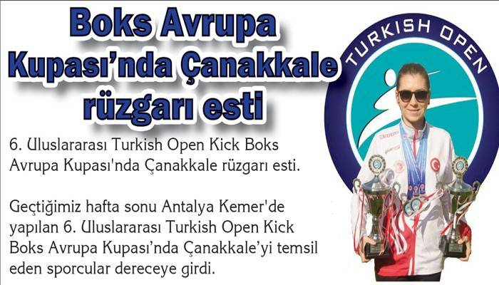 Boks Avrupa Kupası'nda Çanakkale rüzgarı esti
