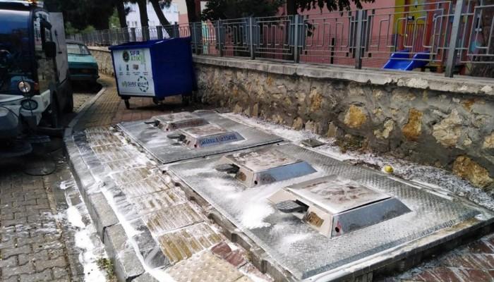 Yer Altı Çöp Konteynerleri Temizlendi