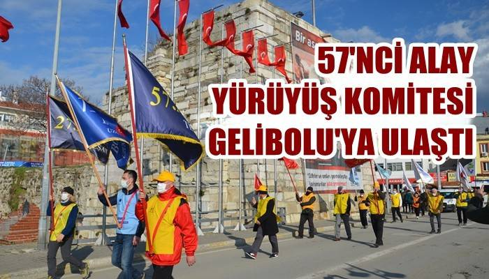57'nci Alay Yürüyüş Komitesi Gelibolu'ya ulaştı (VİDEO)