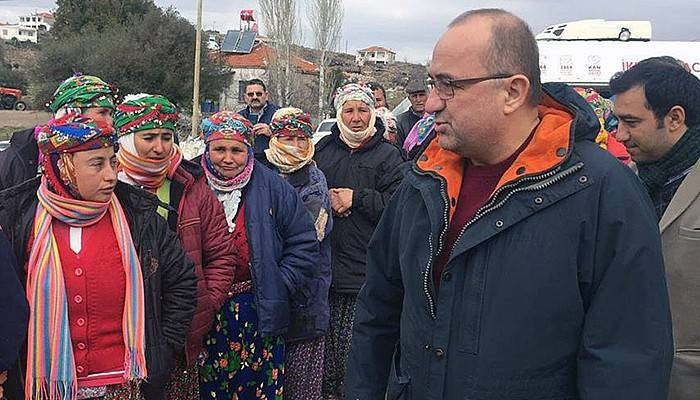 Milletvekili Gider, yeniden deprem bölgesinde (VİDEO)