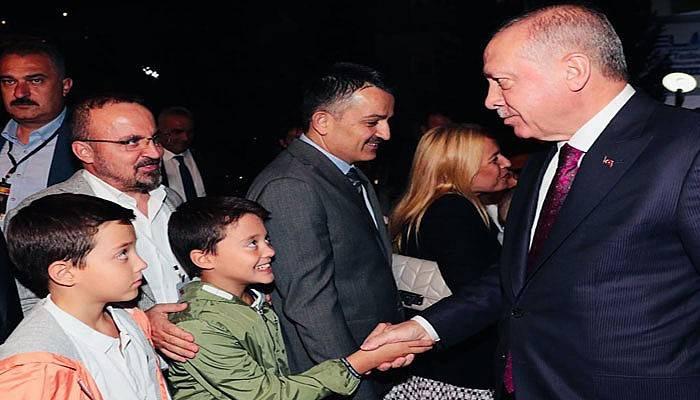 Turan'ın ikizleri Cumhurbaşkanı Erdoğan'la buluştu