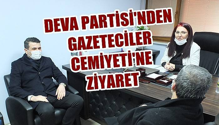 DEVA Partisi'nden Gazeteciler Cemiyeti'ne ziyaret