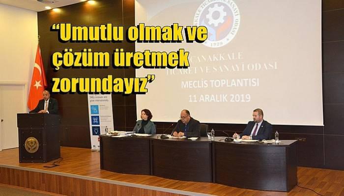 Çanakkale Ticaret ve Sanayi Odası Olağan Meclis Toplantısı Oldu