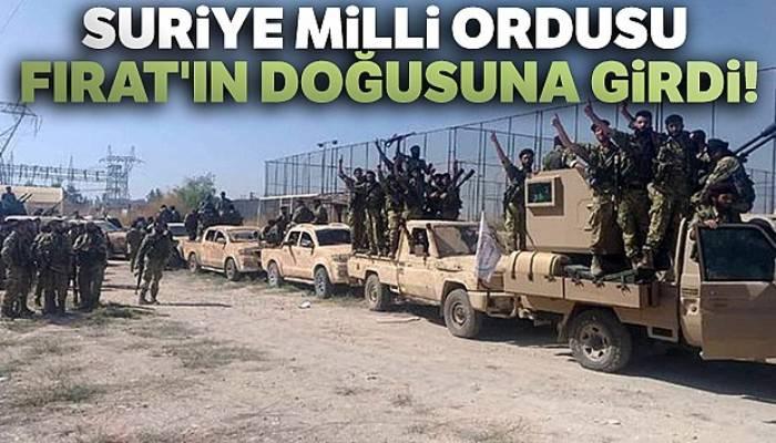 Türkiye destekli Suriye Milli Ordusu Tel Abyad sınırına doğru ilerliyor