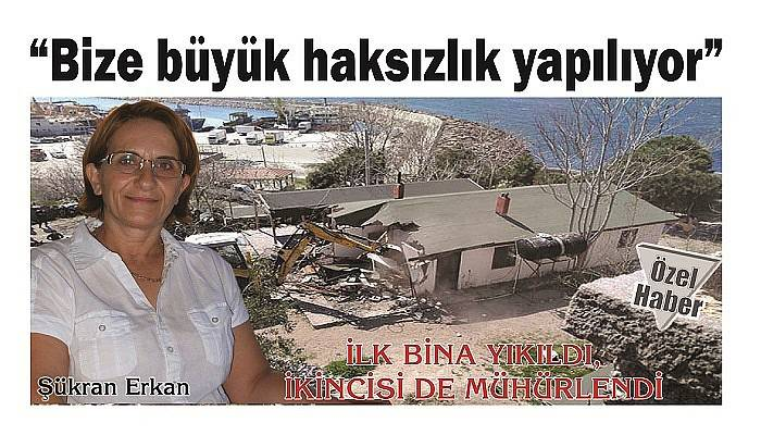 İLK BİNA YIKILDI, İKİNCİSİ DE MÜHÜRLENDİ
