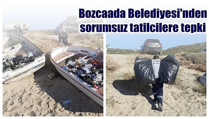 Bozcaada Belediyesi'nden sorumsuz tatilcilere tepki