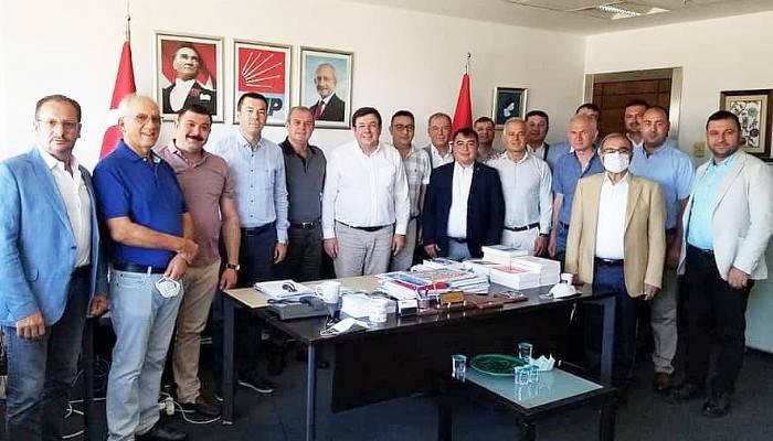 CHP DELEGELERİ ERKEK'İ MAKAMINDA ZİYARET ETTİ