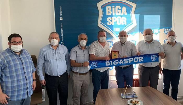 YENİ BAŞKAN'DAN BİGASPOR'A ZİYARET