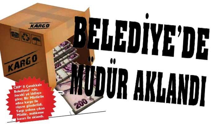 BELEDİYE'DE MÜDÜR AKLANDI