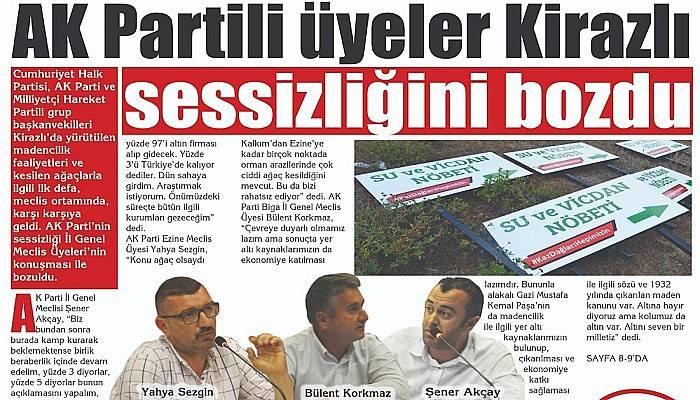 AK Partili üyeler Kirazlı sessizliğini bozdu