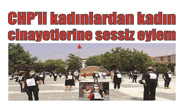 CHP'li kadınlardan kadın cinayetlerine sessiz eylem