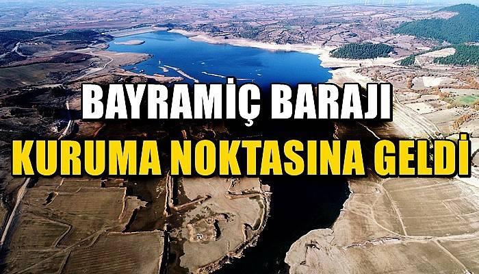 'Bin Pınarlı İda'dan beslenen Bayramiç Barajı kuruma noktasına geldi (VİDEO)