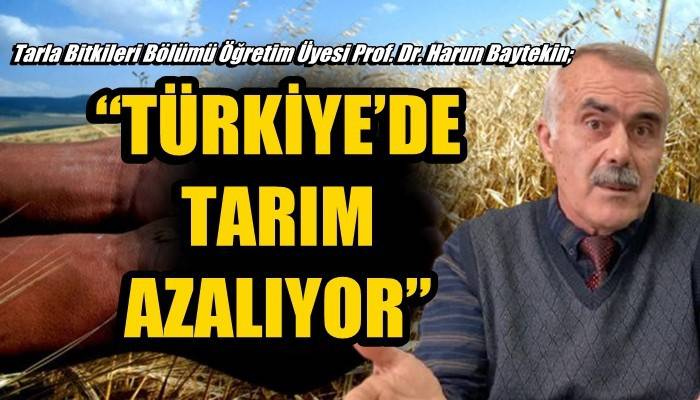 Tarla Bitkileri Bölümü Öğretim Üyesi Prof. Dr. Harun Baytekin; 'TÜRKİYE'DE TARIM AZALIYOR'