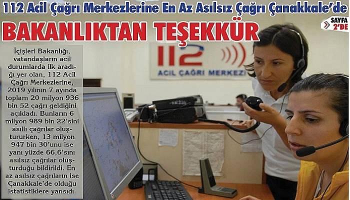 En az asılsız çağrı Çanakkale'de