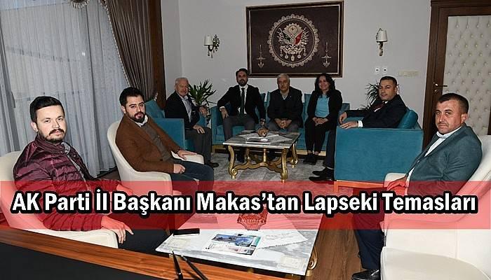 AK Parti İl Başkanı Makas'tan Lapseki Temasları