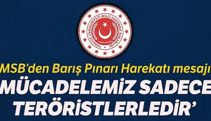 Milli Savunma Bakanlığından 'Barış Pınarı Harekatı' açıklaması