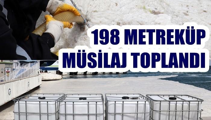 Çanakkale'de 198 metreküp müsilaj toplandı (VİDEO)