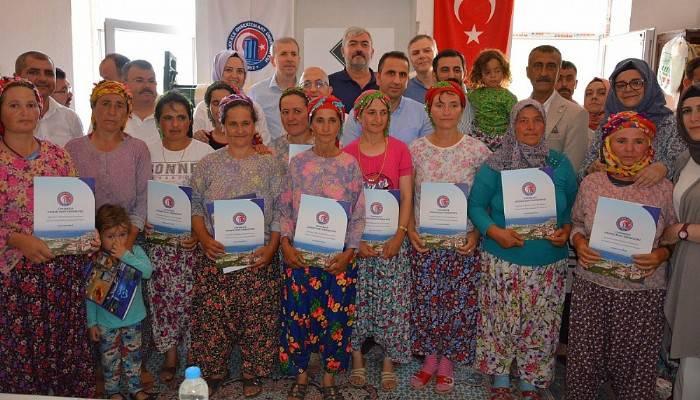 Çamkabak Köyünde sertifika töreni