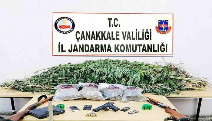 Yenice ve Bayramiç'te Uyuşturucu Operasyonu
