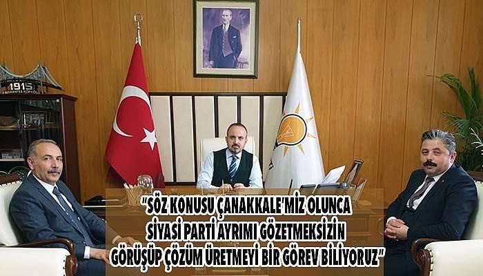 İYİ Partili Zileli ve CHP'li Uygun'dan Turan'a ziyaret