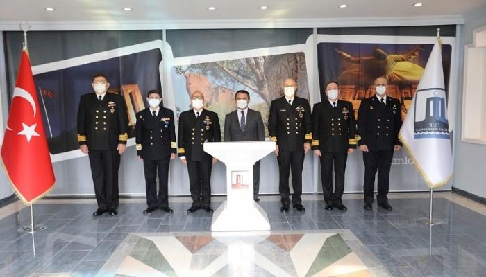 Nusret-21 Tatbikatı Komutanlarından Vali Aktaş'a Ziyaret