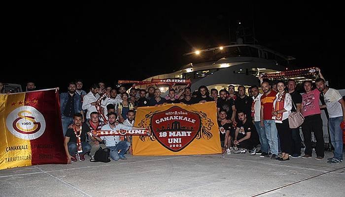 Galatasaray Taraftarlar Derneğinden boğazda iftar (VİDEO)