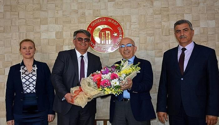 Çanakkale Defterdarı Vekili Alpay Ekici'den ÇOMÜ Rektörü Prof. Dr. Sedat Murat'a Ziyaret