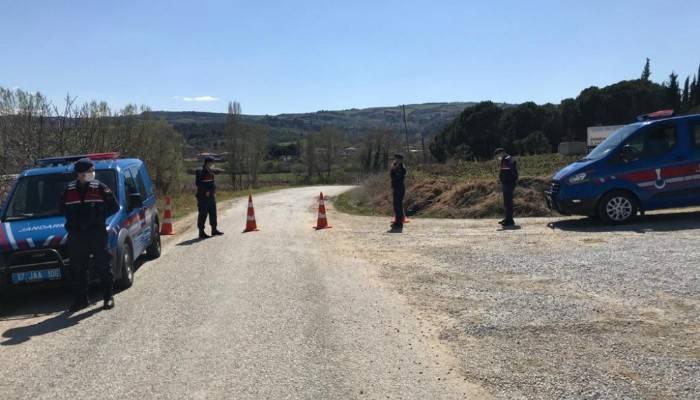 Lapseki'de bir köy karantinaya alındı
