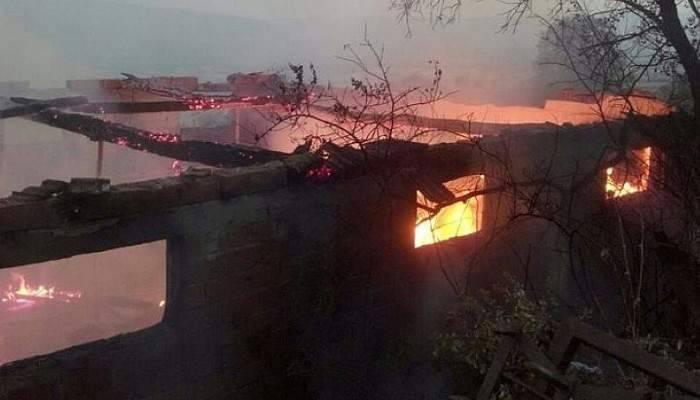 Ramazanlar köyünde yangın