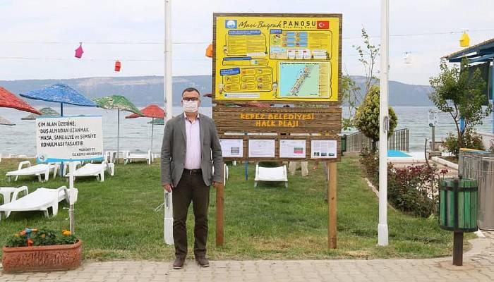 Kepez Halk Plajında Mavi Bayrak Yeniden Dalgalandı
