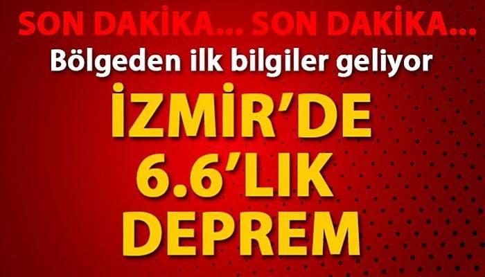 Ege Denizi'nde 6.6 büyüklüğünde deprem; İzmir'de yıkıma neden oldu