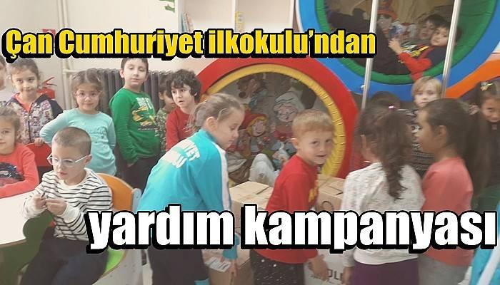 Çan Cumhuriyet ilkokulu'ndan yardım kampanyası