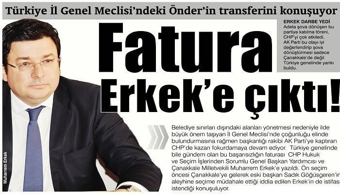 Türkiye İl Genel Meclisi'ndeki Önder'in transferini konuşuyor: Fatura Erkek'e çıktı!