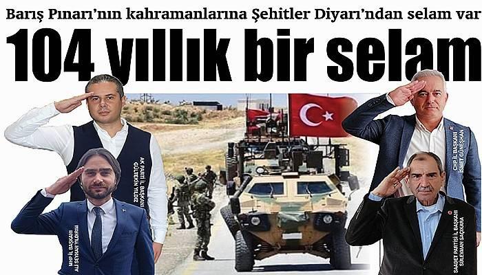 Barış Pınarı'nın kahramanlarına Şehitler Diyarı'ndan selam var