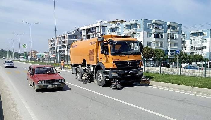Lapseki'de kara yolları çalışması