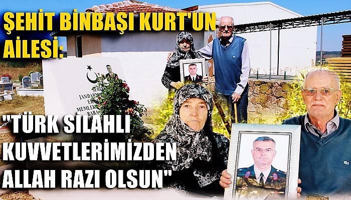 Şehidin anne ve babası, oğullarının katilinin öldürülmesi haberi üzerine temsilî mezarın başında dua edip, Türk Silahlı Kuvvetlerine teşekkür etti (VİDEO)
