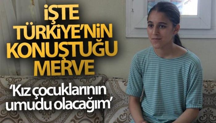 Şanlıurfalı 13 yaşındaki hentbolcu Merve Akpınar duygularını anlattı (VİDEO)