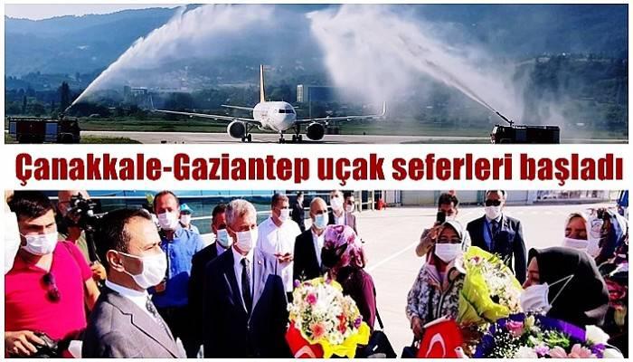 Çanakkale-Gaziantep uçak seferleri başladı