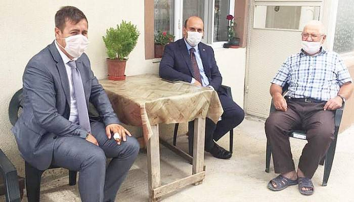 Biga Kaymakamı Mustafa Can, 19 Eylül Gaziler Günü dolayısıyla gazileri evlerinde ziyaret etti.