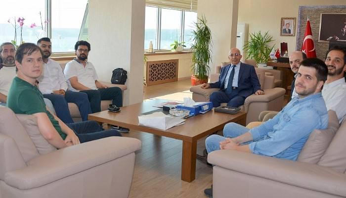 İstanbul Üniversitesi Ekibinden Rektöre Ziyaret