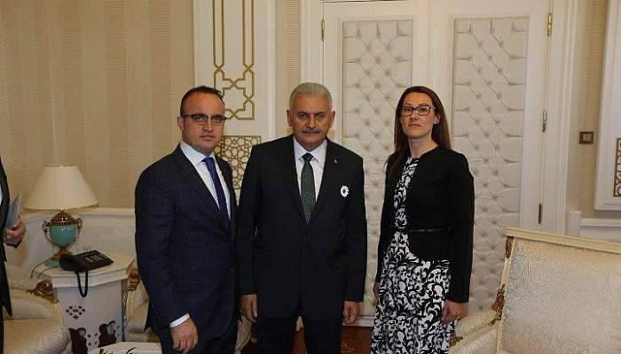 Karadağ'dan Başbakan Binalı Yıldırım'a Ziyaret