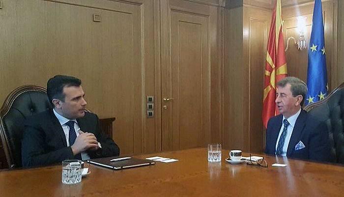 Doğan, Makedonya Başbakanı Zaev ile görüştü