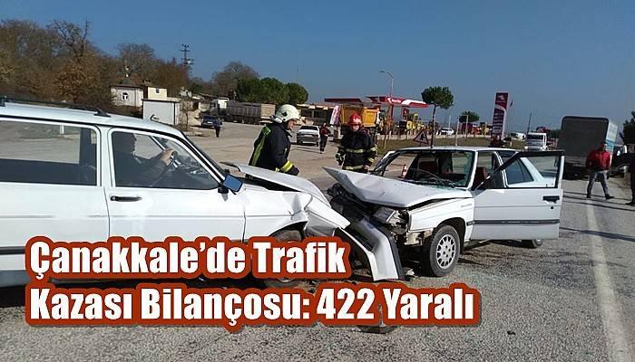 Çanakkale'de Trafik Kazası Bilançosu: 422 Yaralı