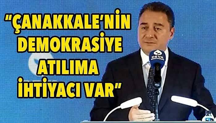 DEVA Genel Başkanı Babacan, Çanakkale'de konuştu