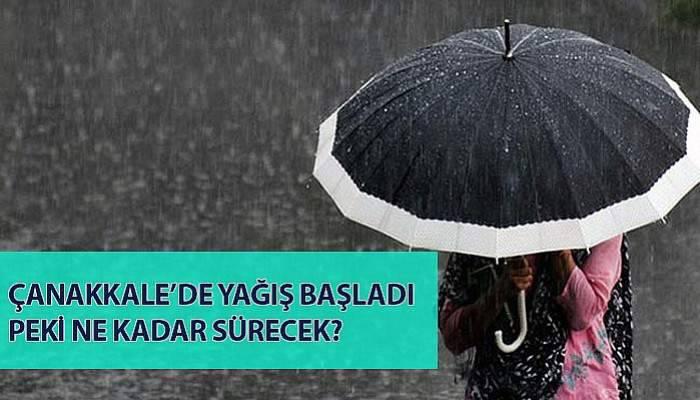 Çanakkale'de kuvvetli yağış...
