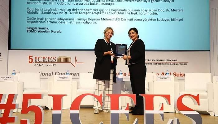 'Türkiye Deprem Mühendisliği Derneği 2019 Yılı Araştırma Teşvik Ödülü' ÇOMÜ'nün