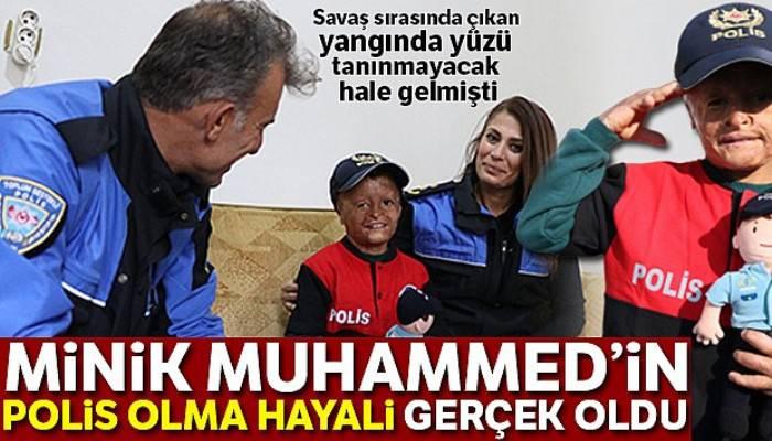 Savaş mağduru Muhammed'in polis olma hayali gerçek oldu