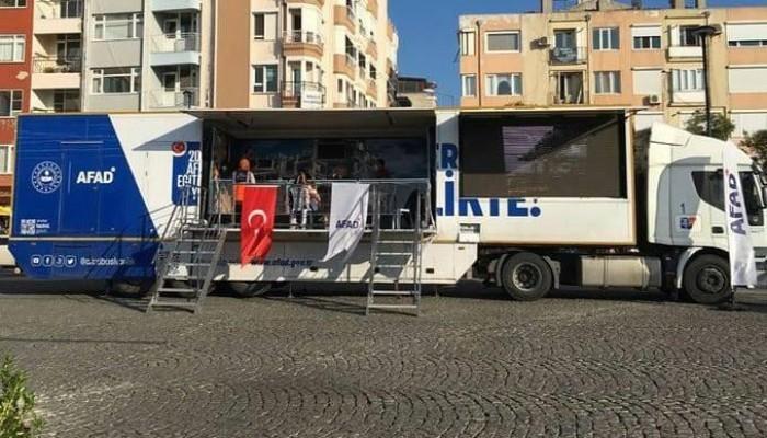 Gezici Deprem Simülasyon Tırı'nda Vatandaşlara Deprem Eğitimi Verildi