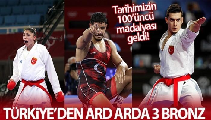 Türkiye'den ard arda 3 bronz madalya!
